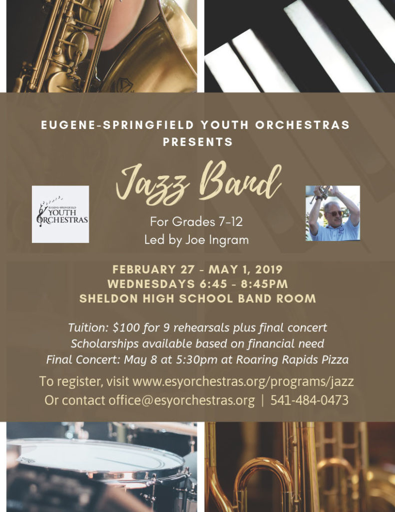 Jazz Band 2019 - Eugene Springfield Youth Orchestras
